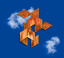 Cubed Flight in the Clouds by YoPedro