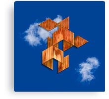 Cubed Flight in the Clouds Canvas Print