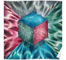 Aluminum Cube RGB Psychodelic Poster