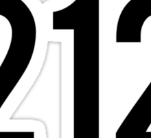 212 (Black) Sticker