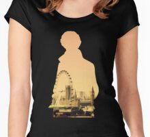 Sherlock - London Silouette Women's Fitted Scoop T-Shirt