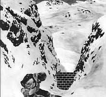 Snowboarder Brick Wall by NJjessie