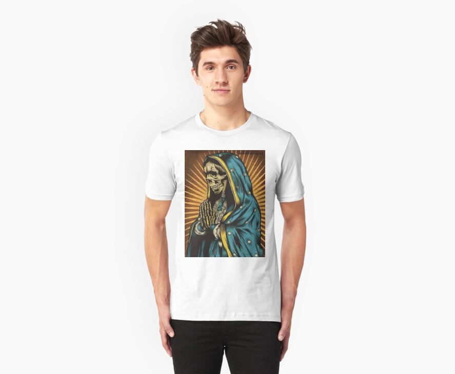 Virgin Mary skull by edwynmorales