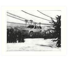 SUV Ski Lift Art Print