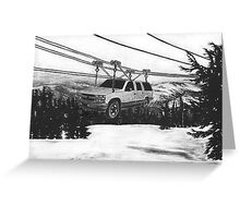 SUV Ski Lift Greeting Card