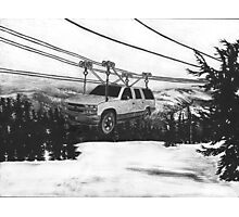 SUV Ski Lift Photographic Print