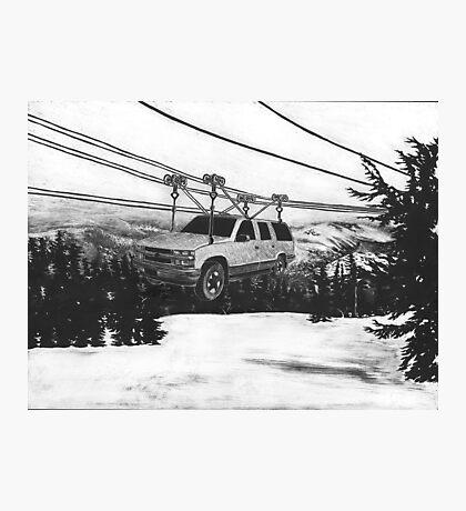 SUV Ski Lift Photographic Print