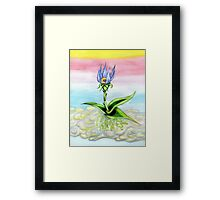 Sky Flower Framed Print