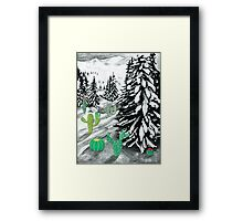 Cactus Winter Wonderland Framed Print