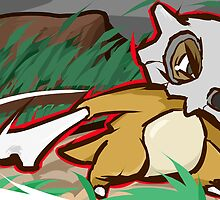 Cubone | Bone Rush  by ishmam