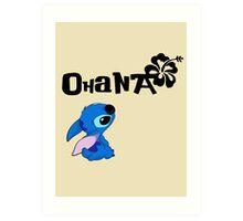 Stitch - Ohana Art Print