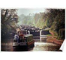 Hatton Flight, Grand Union Canal. Poster