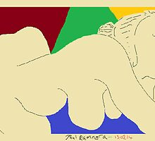 Female Nude II -(150214)- Digital artwork/MS Paint by paulramnora