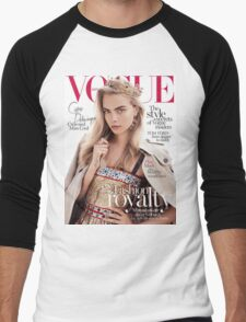 Cara Delevingne Vogue 2 Men's Baseball ¾ T-Shirt