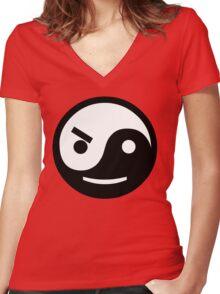YIN YANG STA Women's Fitted V-Neck T-Shirt