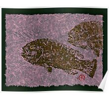 Tautog on Bubble Gum Unryu Paper Poster