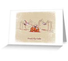 Fruit Fly Cake Greeting Card
