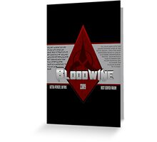Bottle of Bloodwine Greeting Card