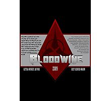 Bottle of Bloodwine Photographic Print
