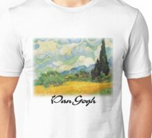 Vincent Van Gogh - Wheat Fields with Cypress Unisex T-Shirt