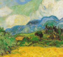 Vincent Van Gogh - Wheat Fields with Cypress Sticker