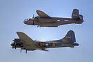 "B-25J Mitchell And B17 ""Sally B"" - Shoreham 2013 by Colin J Williams Photography"