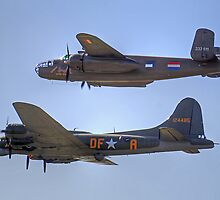 """B-25J Mitchell And B17 """"Sally B"""" - Shoreham 2013 by Colin  Williams Photography"""