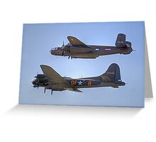 "B-25J Mitchell And B17 ""Sally B"" - Shoreham 2013 Greeting Card"
