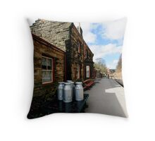 Goathland Railway Station Throw Pillow