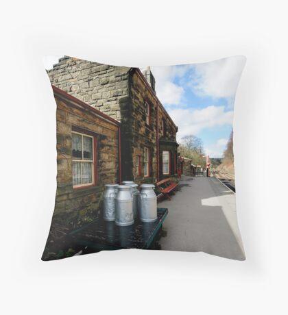 Goathland Railway Station Throw Pillow