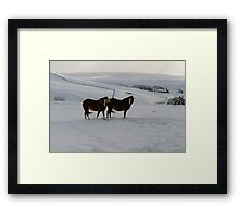 Baby Its Cold Outside Framed Print