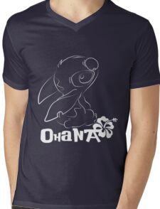 Stitch (Minimal) Mens V-Neck T-Shirt
