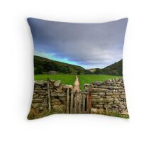 Muker To Keld Throw Pillow