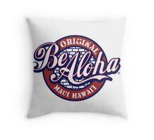 Be Aloha Pennant Throw Pillow