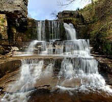 Swinner Gill Waterfall by English Landscape Prints
