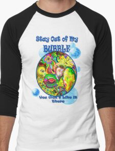 Stay Out of My Bubble (Alternate) Men's Baseball ¾ T-Shirt
