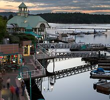 Nanaimo Harbour Boardwalk by Michael Russell
