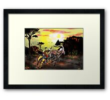 Chimera hunts Mezmerise Framed Print