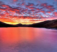 Loch Lyon Sunset by English Landscape Prints