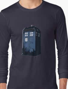 The BLUE Police Box - Tardis Long Sleeve T-Shirt