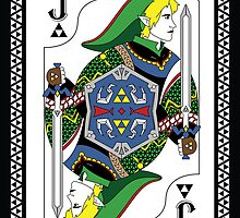 Link Card - Hylian Court Legend of Zelda by sorenkalla