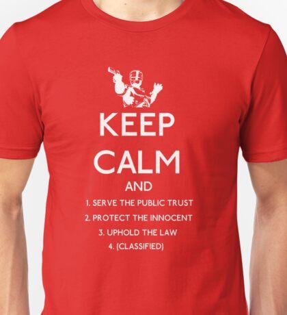 Robocop, Keep Calm Directives (white) Unisex T-Shirt