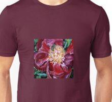 Peony with Bee Unisex T-Shirt