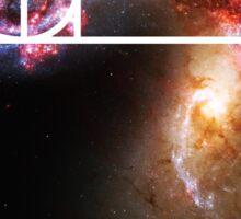 Fibonacci Spiral Galaxy Sticker