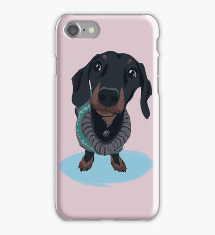 Handsome Fella - Dachshund Sausage Dog iPhone Case/Skin