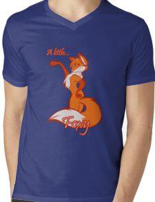 A Little Foxy Mens V-Neck T-Shirt