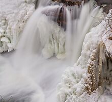 Frozen Waterfall from Above by Kenneth Keifer