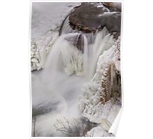 Frozen Waterfall from Above Poster