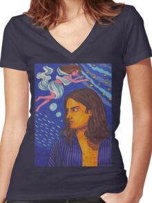 10,000 Emerald Pools Women's Fitted V-Neck T-Shirt