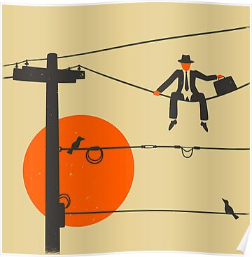 Man On A Wire by JazzberryBlue
